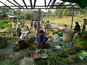 Rural farmer market traditional retail Ywama Inle Lake Myanmar.jpg