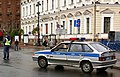 Russia Saint Petersburg Police Car Lada2114 2010-09-19.JPG