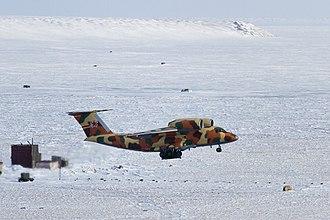 Tiksi Airport - Russian Border Guards Antonov An-72P rotates at Tiksi Airport, 2017