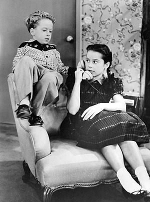 Rusty Hamer - Hamer and Sherry Jackson in Make Room for Daddy in 1955