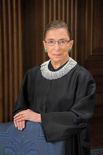 Ruth Bader Ginsburg co-founded the ACLU's Women's Rights Project in 1971. She was later appointed to the Supreme Court of the United States by President Bill Clinton. Ruth Bader Ginsburg official SCOTUS portrait.jpg