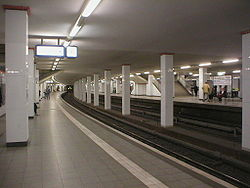 S-Bahn station Potsdamer Platz - formerly a ghost station and now reopened.