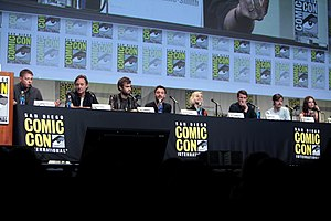 Pride and Prejudice and Zombies (film) - The cast and crew of Pride and Prejudice and Zombies at the 2015 San Diego Comic-Con to promote the film.