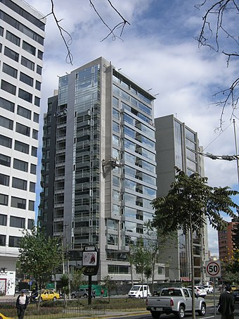 Modern buildings in Quito's growing Financial District SHYRISBUSINESS.JPG
