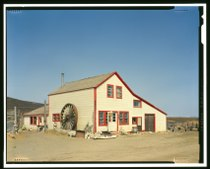 SIDE AND FRONT - Iditarod Trail Shelter Cabins, Cape Nome Roadhouse, Cape Nome, Nome Census Area, AK HABS AK,9-SEW,2-M-5 (CT).tif