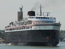 The SS Badger departing Manitowoc for Ludington