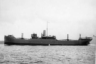 SS Black Osprey - SS West Arrow underway in mid 1918