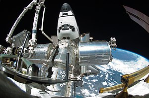 International Space Station - Fisheye view of several labs