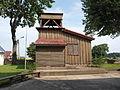 Sacred Heart wooden church in Jeleniewo - bell tower (2).JPG