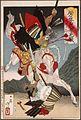 Sagami Jiro and Taira no Masakado Attacking an Opponent on Horseback LACMA M.84.31.433.jpg