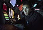 Sailor uses a radar tracking system to track surface contacts. (32477067112).jpg