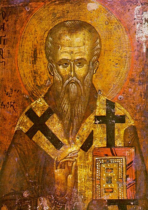 A medieval icon of Saint Clement of Ohrid, a high-ranking official of the Bulgarian Church, scholar, writer and enlightener of the Bulgarians and the Slavs Saint Clement of Ohrid (icon, 13th-14th century).jpg