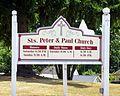 Saints Peter & Paul Church (Newport, Ohio) - church sign.jpg