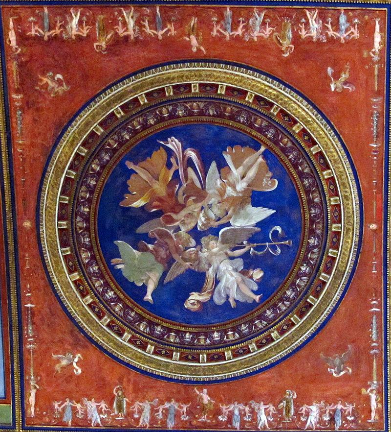 Sala dei Pontefici, volta con affreschi di giovanni da udine e pierin del vaga 01,1.jpg