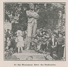 Sam Davis Monument at its dedication in Tennessee.jpg