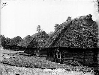 Manu'a - Image: Samoan.village.on.th e.Manu'a.Island.Grou p.Andrew.Thomas 1890 1910