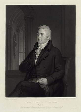 The Spirit of the Age - Samuel Taylor Coleridge at age 42. Engraving by Samuel Cousins from a painting by Washington Allston