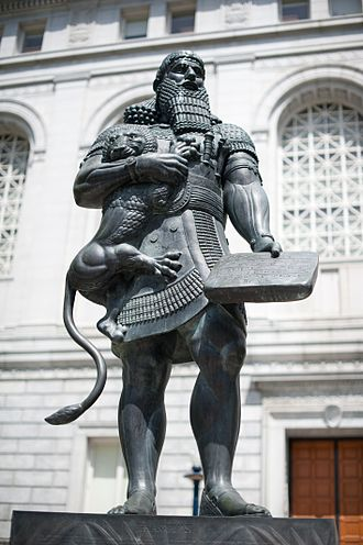 Ashurbanipal (sculpture) - Ashurbanipal in April 2011