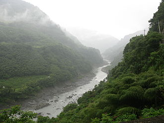 Geography of Taiwan - The Sanguang River in northwestern Taiwan