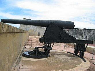 Puerto Rican Campaign - Ordoñez 15 cm cannon which opened fire on Yale