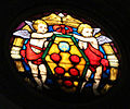 San lorenzo, vetrata con stemma medici.JPG