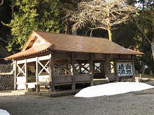 Sarugaku - Stage for Sarugaku at Nogohakusan-jinja, Ibigawa, Gifu, Japan.