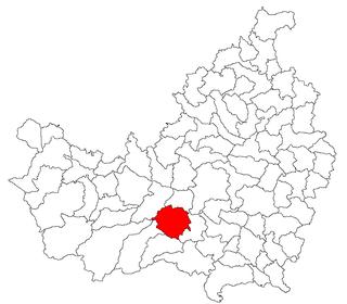 Commune in Cluj County, Romania