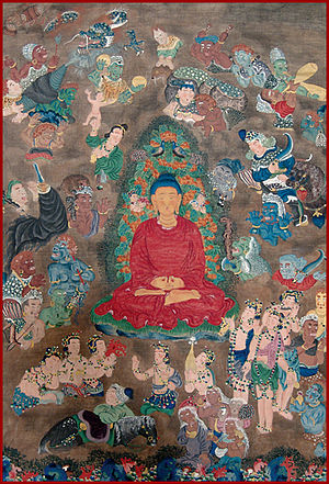 Chöying Dorje, 10th Karmapa - Scene from Gautama Buddha's life story by the Tenth Karmapa