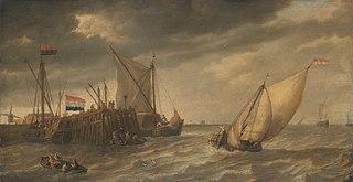 Ships near a pier