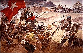 Battle of Glorieta Pass - Depiction of the Battle of Glorieta Pass by Roy Anderson