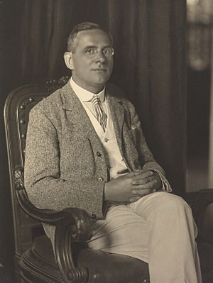 Moritz Schlick, the founding father of logical positivism and the Vienna Circle. Schlick sitting.jpg