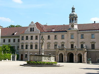 St. Emmeram's Abbey, now Schloss Thurn und Taxis, a huge palace SchlossThurnundTaxis2010.JPG