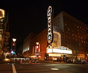 Arlene Schnitzer Concert Hall - The concert hall's exterior as seen from Broadway, 2007