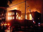 The Weatherwax building of Aberdeen High School burned down in 2002