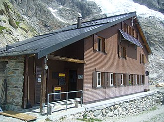 Schreckhorn Hut - The Schreckhorn Hut