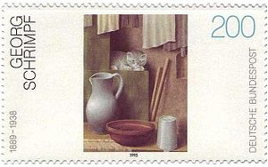 Georg Schrimpf - Postage stamp issued by Deutsche Bundespost in 1995 to commemorate Schrimpf