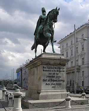 Karl Philipp, Prince of Schwarzenberg - Schwarzenberg Monument at Schwarzenbergplatz, Vienna, by Ernst Julius Hähnel