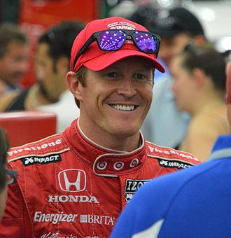 American open-wheel car racing - Scott Dixon, the reigning National Champion.