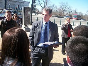 Scott Brown (politician) - Brown speaking to constituents