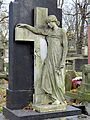 Sculpture and architectural detail at the Powązki Cemetery - 04.jpg