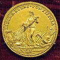Scuola romana, medaglia di leone X, recto con liberalitas (bronzo dorato).JPG