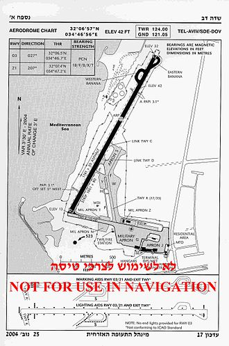 Sde Dov Airport - Sde Dov Airport Chart