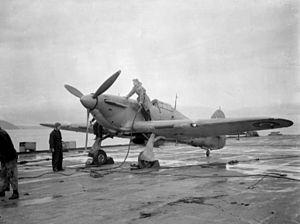Sea Hurricane refueled on HMS Argus (I49) c1942.jpg