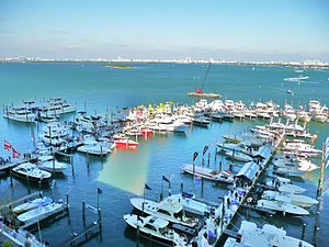 Miami International Boat Show - The Sea Isle Marina during the Miami International Boat Show, 2010.
