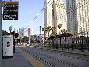 Seaport Village station - Seaport Village Station platforms