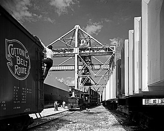 St. Louis Southwestern Railway - Cotton Belt boxcar at Texas City, Galveston County, Texas