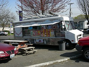 Taco truck on Rainier Avenue, Columbia City, S...