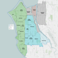 Seattle City Council District 1 neighborhoods.png