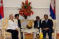 Secretary Clinton with Cambodia's Prime Minister Hun Sen (7549723168).jpg