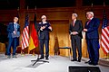 Secretary Kerry, German Foreign Minister Steinmeier Listen as a Citation Is Read Before the Secretary Receives the Order of Merit in Berlin (31072508930).jpg